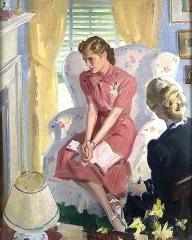 la jeune fille à la lettre.