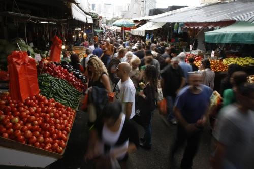 Tel-Aviv, marché, foule