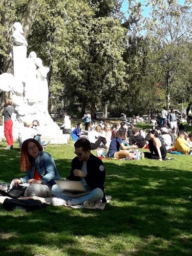 dimanche,parc monceau,foule