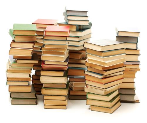 Livres, piles, édition, vente
