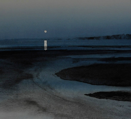 lakevio,nuit,lune,mer